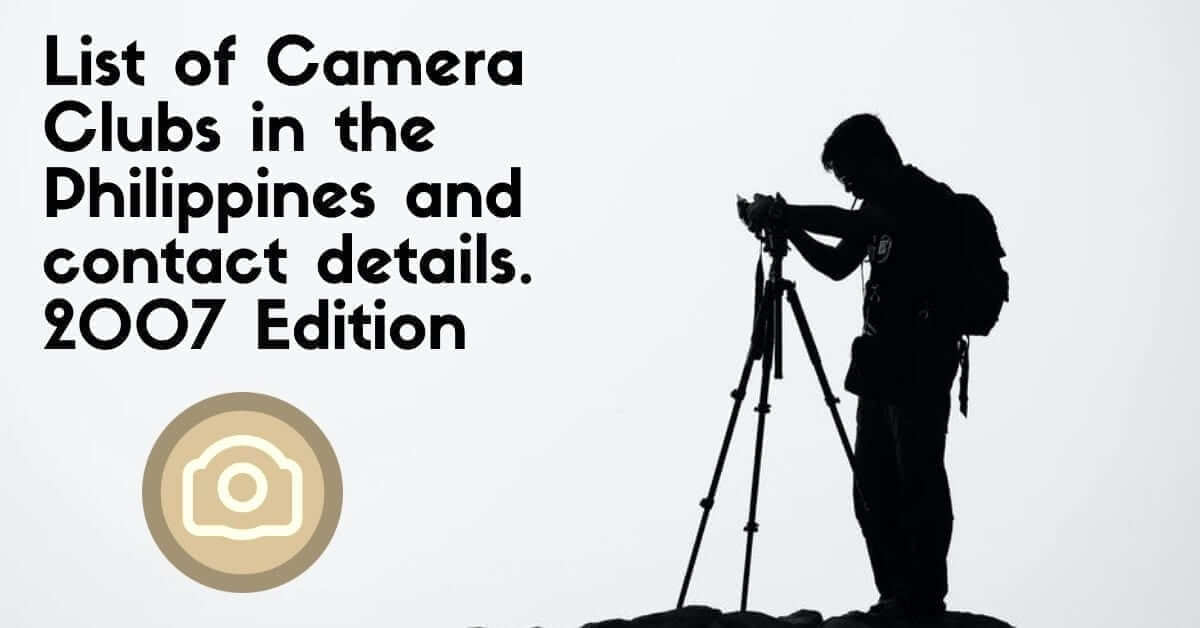 camera clubs in the philippines